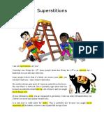 Superstitions - listening lesson plan + handout