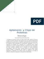 Aptámeros y Chips de Proteínas
