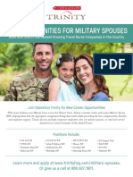 Trinity Healthcare Staffing Group_Military Spouse Hiring