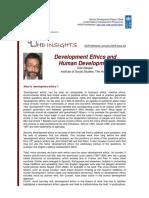 (2009) Des Gasper. Development Ethics and Human Development