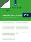 Iob Newsletter 13 04 Renewable Energy