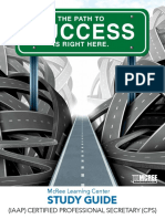 Certified Professional Secretary (CPS) Study Guide