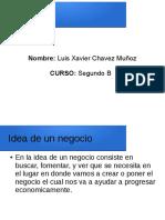 Luis Chavez Emprendimiento Segundo b