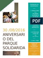 30 de Agosto Invitacion