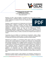 Declaración Política de Punta Cana v Cumbre CELAC 25.01.2017