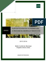 Guia de Estudio. 2ª Parte 2015-16 Alteraciones del desarrollo uned