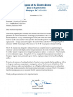 Rep. Nancy Pelosi's Letter to UC President Janet Napolitano Regarding UCSF Layoffs