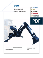 Bradco 485 Operators Manual