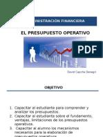 El Presupuesto Operativo
