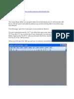 Visual b Excel