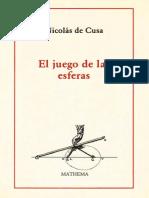 Nicolás de Cusa - El juego de las esferas.pdf