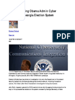 IG Investigating Obama Admin Cyber Attacks on Georgia Election System