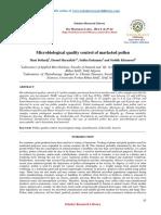 Calitate Microbiologica Polen