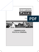 Criminología Politica Criminal