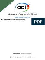 ACI 207.1R-05 Guide to Mass Concrete