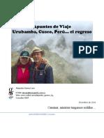 Apuntes de Viaje Peru, El Regreso