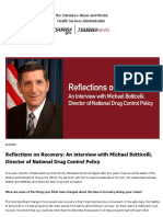 Reflections on Recovery -- An Interview With Michael Botticelli ONDCP