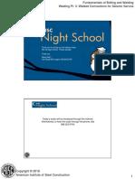 Night School 12 Session 7