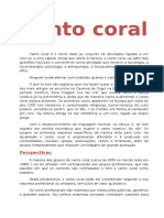 Canto Coral- TEXTO