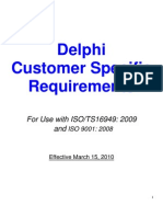Customer Specific Requirements Delphi