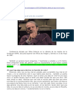 Gilles Deleuze ¿qué es el acto de creación?