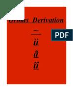Ormus Derivation