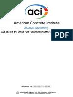 Aci 117.1r-14_ Guide for Tolerance Compatibility in Concrete Construction