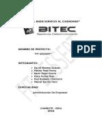 Informe Proyecto Fit Desert