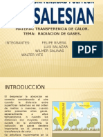 Radiacion a Gas