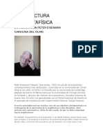 Arquitectura Postmetafísica. Entrevista Con Peter Eisenman - Carolina Del Olmo