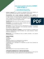 Características de La Nueva Estructura Organizativa de La Gestión