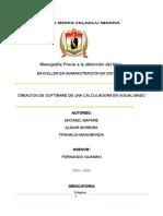 Monografía Visual Basic