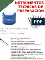 Instrumentos y Tecnicas de Preparacion