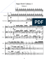 Super Bowl Drum Battle Sheet Music