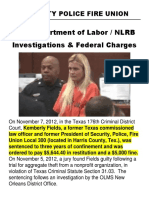 security police fire union dept of labor nlrb report