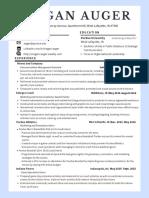 megan auger resume