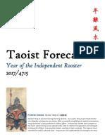 2017 Taoist Forecast 年 雞 風 水