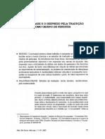 MODERNIDADE E O DESPREZO PELA TRADUÇÃO COMO OBJETO DE PESQUISA  arrojo