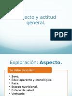 Aspecto, Actitud General y Conciencia.