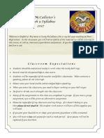 english syllabus pdf