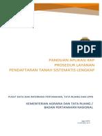 PANDUAN APLIKASI KKP UNTUK PENDAFTARAN TANAH SISTEMATIS LENGKAP / PTSL TAHUN 2017