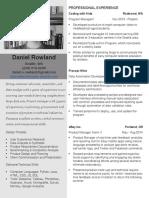 daniel rowland resume