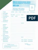 Formulir Pendaftaran Penmaru UMY