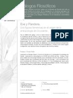 Anuncio de curso Eva y Pandora de T. Pollán