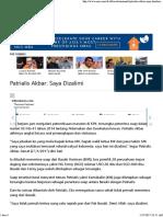 Patrialis Akbar_ Saya Dizalimi