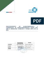 APTr 1.2 Procedimiento de Almacenamientoy Transporte de Hemocomponentes Desde UMT a Servicios Clínicos y UMT S de La Red en HRR V1 2015