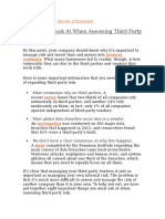 8 Things to Look at When Assessing Third Party Risk