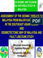 Assesment of Seismic and Tsunami Threats to Malaysia From Major Earthquakes