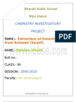 22541949 Chemistry Project on Extraction of Essential Oil From Aniseed Saunf