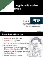 Penelitian Dan Publikasi Ilmiah (2013)